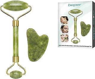 Beper C301ABE101 Gua Sha in Jade, Jade Roller & Gua Sha Massagge Tool, gezichts- en lichaamsmassage, ontspannend, modeller...