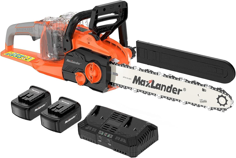 MAXLANDER 40V Cordless Brushless Electirc Chainsaw Batte Tucson Mall trend rank 16-Inch