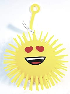 Spikey Yellow Emoji Love in Your Eyes Silly Face 3