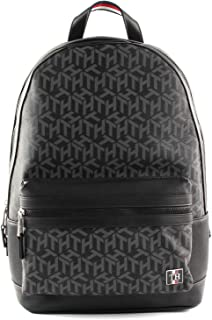Tommy Hilfiger Men's Coated Canvas Backpack, Black - AM0AM05799