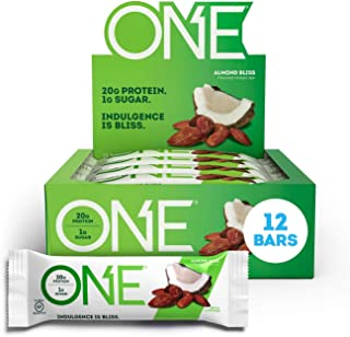 ONE Protein Bars, Almond Bliss, Gluten Free Protein Bars with 20g Protein and only 1g Sugar, Guilt-Free Snacking for High ...