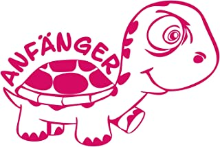 Folistick Anfänger Turtle Schildkröte Aufkleber Autotattoo Autoaufkleber Ausführung rechts (PINK)