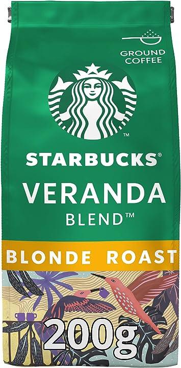 Caffè macinato starbucks in tostatura naturale - da veranda blonde blonde roast - con note di cacao - 200 gr B00ILOYWU6