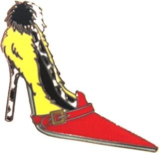 Villains Designer High Heel / Pumps Shoes - Cruella Deville Pin