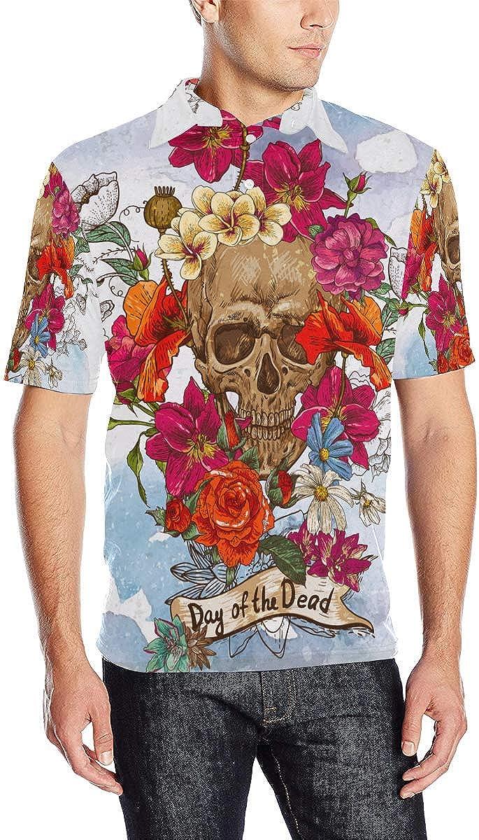 Sugar Skull Dia De Los Muertos Men's Ranking TOP16 Polo Finally popular brand Shirt