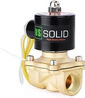"U.S.Solid 3/4"" ブラス電磁弁 直動式 圧縮空気 水 水空気 AC110V 電磁バルブ"