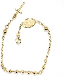 25.4cm Kette kein Stein 18K vergoldet Herren Armband oder Lady/' Fußkettchen /&