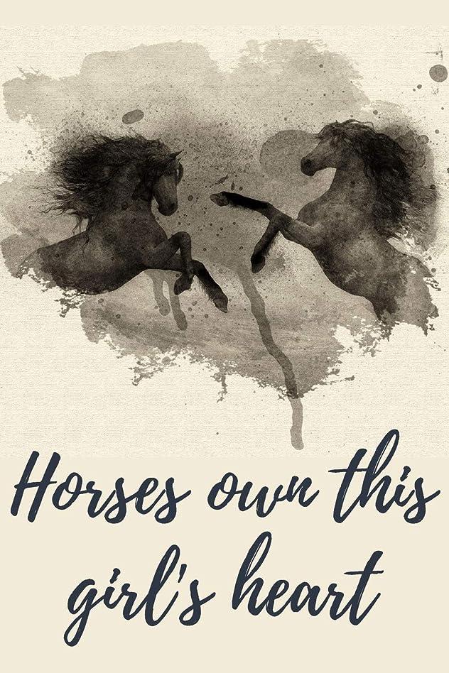 辛なスロベニア調停者Horses own this girl's heart: Beautiful Artistic Journal and Notebook