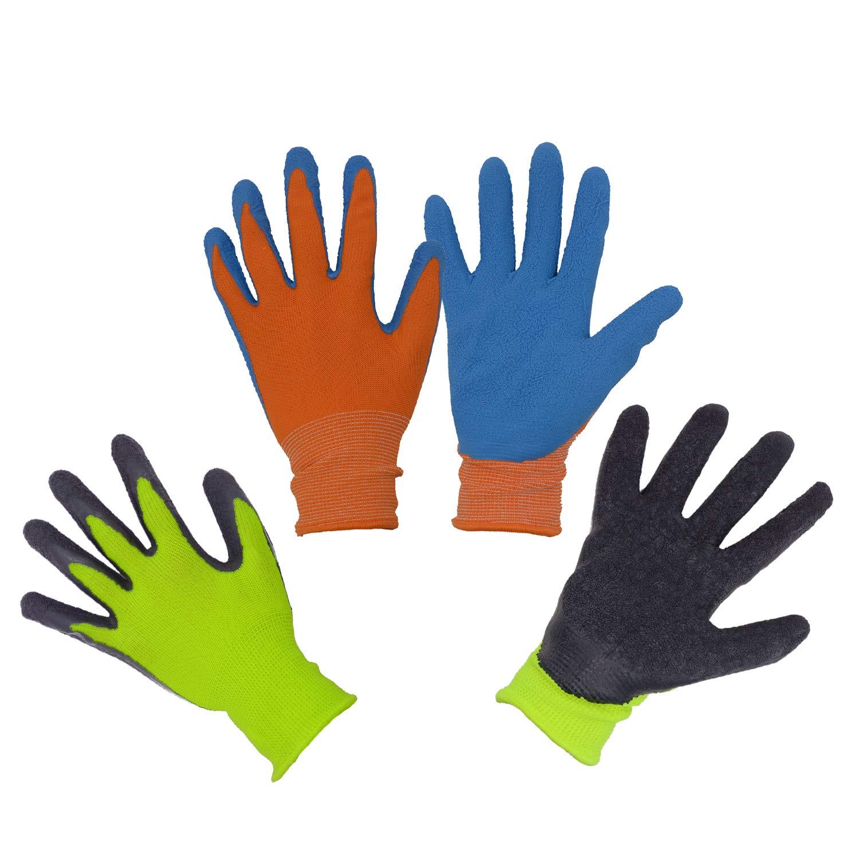 2 pares de guantes de jardín para niños de 2 a 3 años, de 4 a
