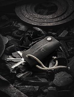 Organizzatore chiave in pelle e portachiavi in pelle   Carbon Black vero e proprio caso Crazy Horse chiave in pelle, porta...