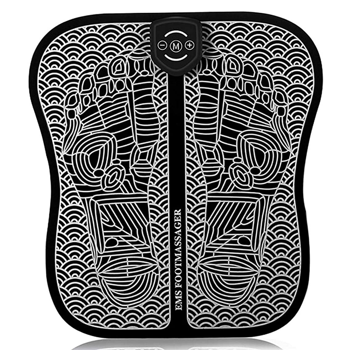 距離キャベツすり減る理性的なEMSのフィートの脈拍のマッサージャー、足のマッサージのマット6モード9種類の強さusbの充満携帯用折りたたみのマッサージのクッション誰にも,Chargingstyle