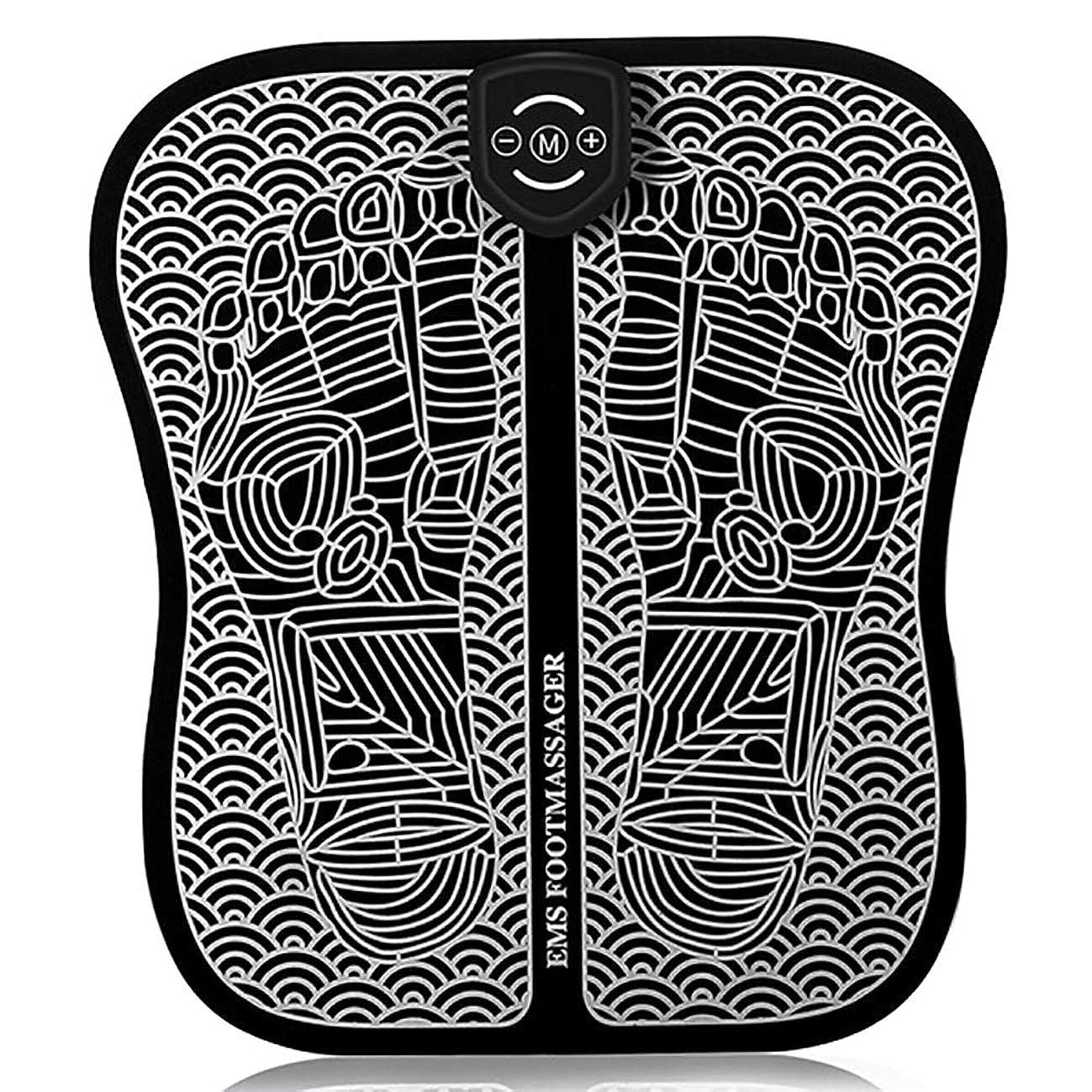 評論家習熟度モス理性的なEMSのフィートの脈拍のマッサージャー、足のマッサージのマット6モード9種類の強さusbの充満携帯用折りたたみのマッサージのクッション誰にも,Chargingstyle