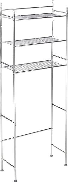 Honey Can Do BTH 05079 3 Tier Metal Bathroom Shelf Space Saver 9 45 X 22 83 X 59 84 Chrome