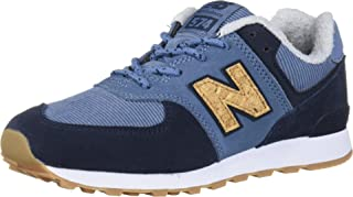 New Balance Boys 574v1 Lace-Up Sneaker, Chambray/Eclips, 11 A M US Toddler (1-4 Years)