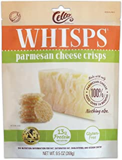 Whisps Parmesan Cheese Crisps | Keto Snack, No Gluten, No Sugar, Low Carb, High Protein | 9.5 ounce