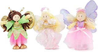 Le Toy Van Budkins Set of 3 Truth Fairy Posable Figures Premium Wooden Toys for Kids Ages 3 years & Up