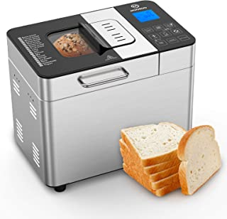Sponsored Ad - MOOSOO Bread Maker with Automatic Fruit Dispenser, Stainless Steel Bread Machine 2LB 18-in-1 Digital Breadm...