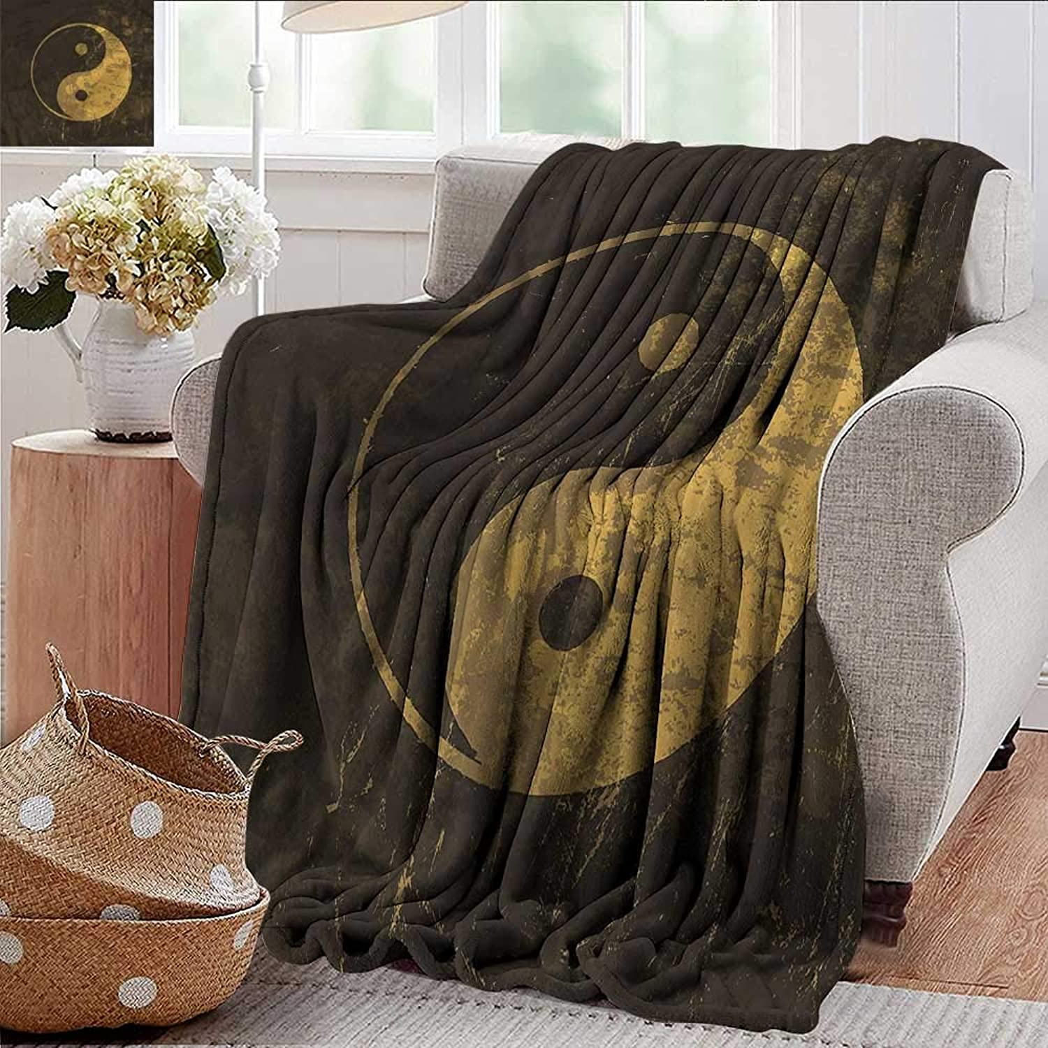 Xaviera Doherty Weighted Blanket for Kids Ying Yang,Harmony Themed Taijtu Soft Summer Cooling Lightweight Bed Blanket 50 x60