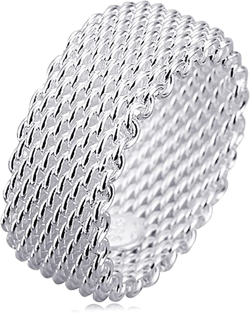 BOHG Jewelry Womens 925 Sterling Plated Silver Kore Fashion Wide Very popular Max 76% OFF