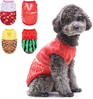 Printed Pet Shirts Cotton Dog T-Shirts Summer Puppy Pullovers Cute Dog Sweatshirts Breathable Basic Dog Clothes Pet Appare...