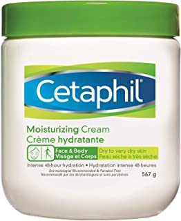 Cetaphil Moisturizing Cream with Sweet Almond Oil and Glycerin 567g - 48hr Hydration for Dry To Very Dry and Sensitive Ski...