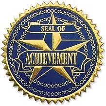 Embossed Achievement 2-Color Foil Certificate Seals, 102 Pack (Blue/Gold)