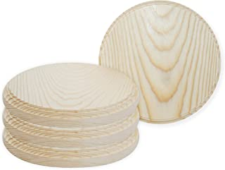 Better Crafts Round Wooden Plaque, 5-Inch Perfect as a Wood Base for Craft Projects! Pack of 2