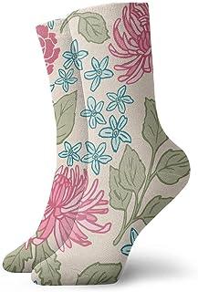 Pink Daisy Hombres Mujeres Calcetines cortos 30cm Calcetines clásicos de algodón para yoga Senderismo Ciclismo Correr Fútbol Deportes