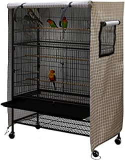 Staright Birdcage Cover Night Birdcage Cover Sleep Helper for Brid Cage with Window Drawstring Bird Cage Waterproof Windsh...