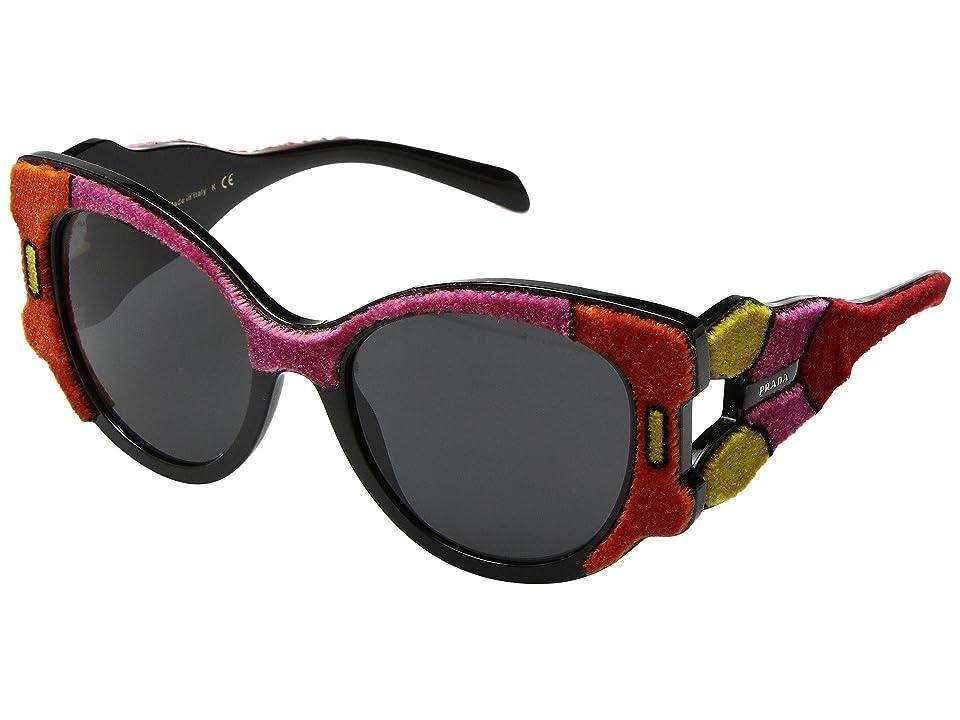 Image of Prada 0PR 10US (Fuchsia/Yellow/Orange/Grey) Fashion Sunglasses