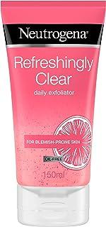 Neutrogena Refreshingly Clear Dagelijkse Exfoliator, 150 ml, Roze