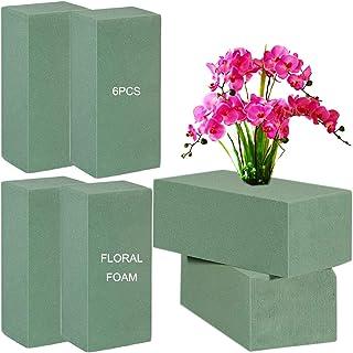 Bricolage Mousse Florale, DBAILY 6pcs Vert Briques De Mousse Floral de Bloc pour Fleurs Séchées Mariages Anniversaires Fêt...