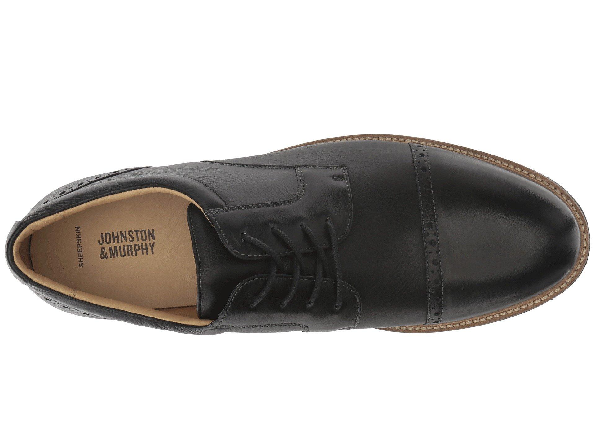 Grain Barlow Casual Murphy Black Full amp; Johnston Soft Toe Cap Dress Oxford EqPBnU7xU