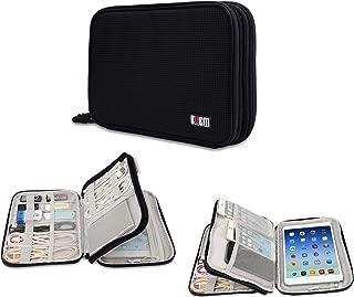 BUBM Electronics Travel Organizer, Double LayerTravel Cable Organizer Gadget Organizer for Cables iPhone Kindle USB Perfect Size Fits for iPad Mini