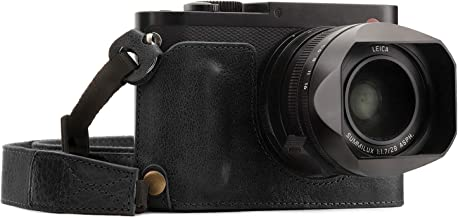 MegaGear Ever Ready Genuine Leather Camera Half Case Compatible with Leica Q-P, Q (Typ 116)