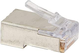 Platinum Tools 100020 EZ-RJ45 Shielded Cat5e/6, (Internal Ground). 50/Bag.(Pack of 50)