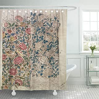 Semtomn Shower Curtain Fine Rose Pencil and W on Morris William 1834 72