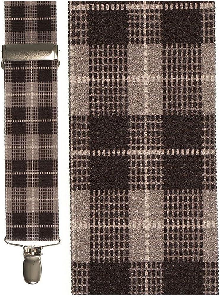 Men's Plaid Suspenders
