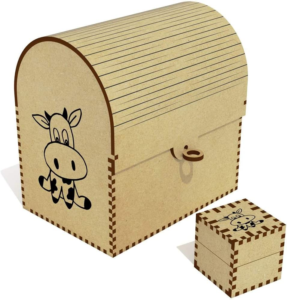 Azeeda NEW before selling ☆ 'Cute Cow' Treasure TC00030963 Box Jewellery Chest New products, world's highest quality popular!