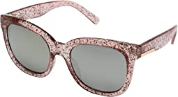 Crystal Blush Glitter/Brown Mirror Lens