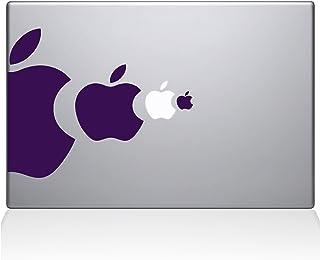 """The Decal Guru Apple Eat Apple Macbook Decal Vinyl Sticker  - 15"""" Macbook Pro (2015 & older) - Lavender (1218-MAC-15P-LAV)"""