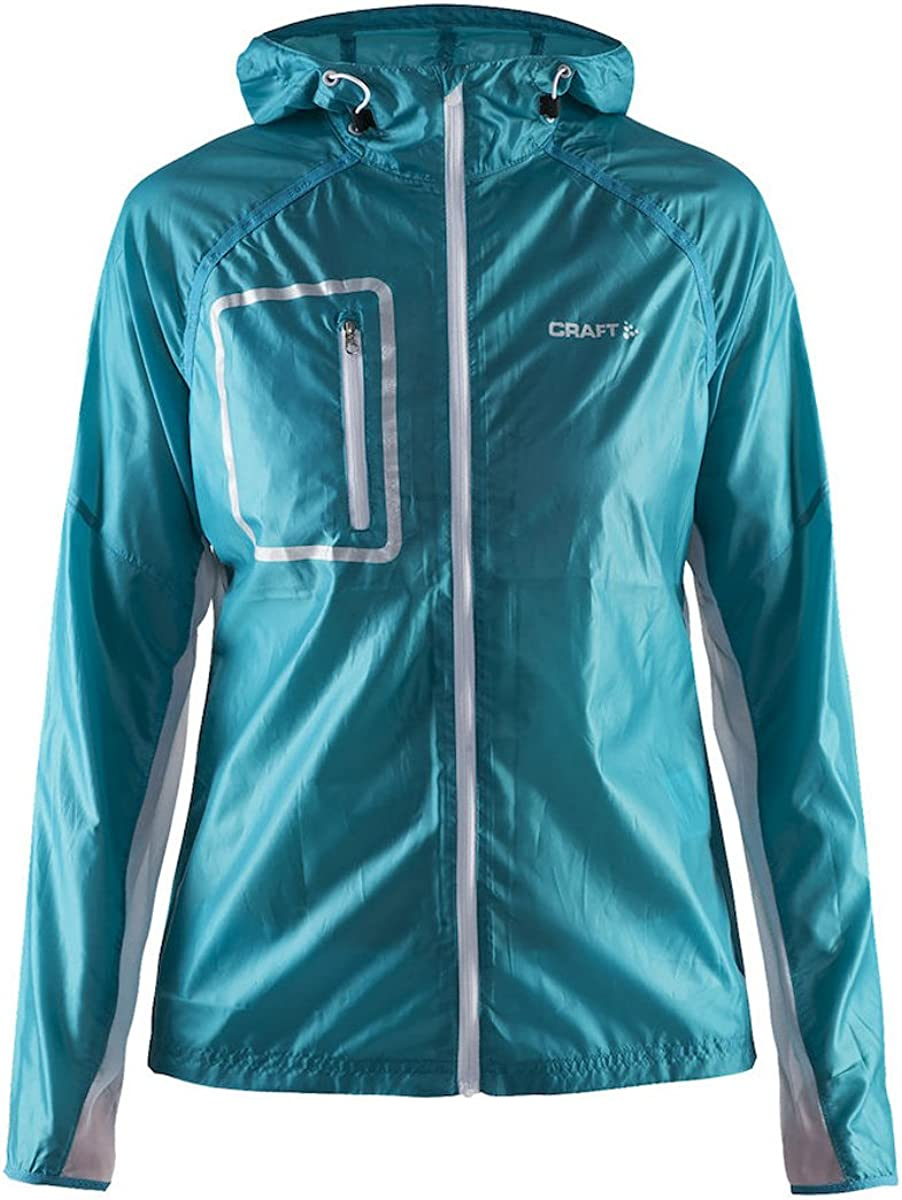 Max 42% OFF Craft Womens Focus Running and Reflective Jacket Hood 1 year warranty Training