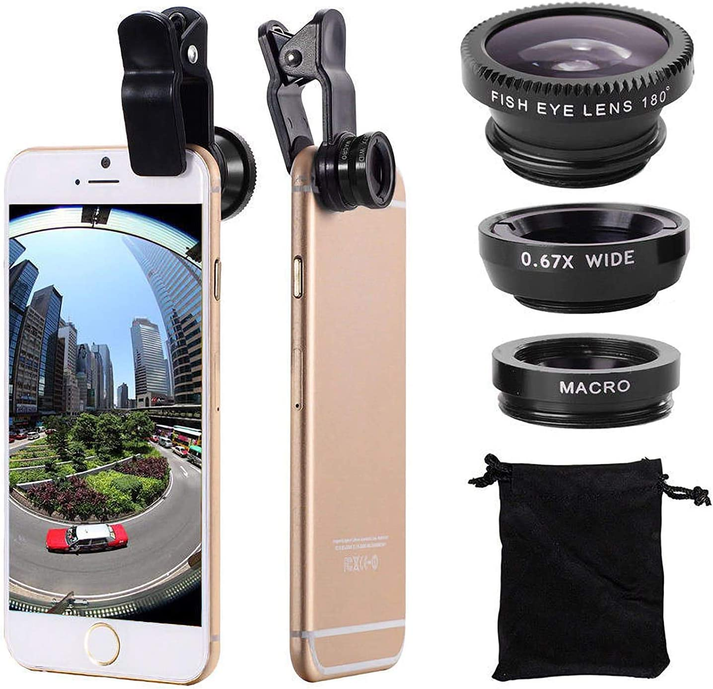 3 in 1 Cell Phone Camera Wide Kit Lens Macro Angle Max 85% OFF 5 popular Fisheye