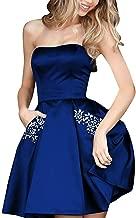 Aurora Bridal Women's Short Beading Formal Gown