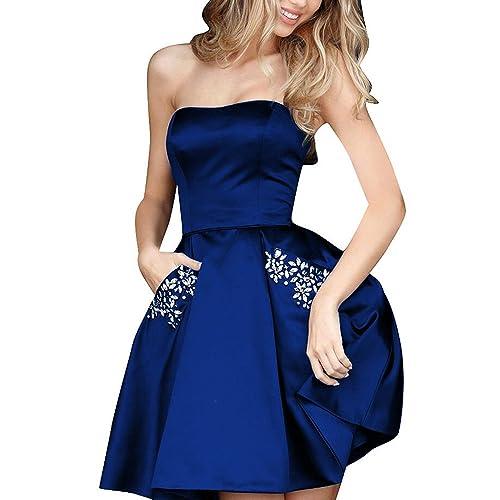 35b554d1cc9 Aurora Bridal Women s Short Beading Homecoming Dresses 2018 Formal Gown  AB0005