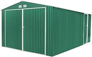 GARDIUN Oxford Garaje metálico, Verde, 540 x 380 x 232 cm