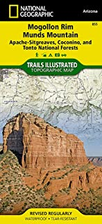 Mogollon Rim, Munds Mountain [Apache-Sitgreaves, Coconino, and Tonto National Forests] (National Geographic Trails Illustrated Map (855))