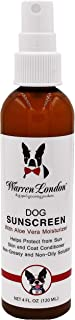 Warren London Premium Dog Sunscreen with Natural Aloe Vera Moisturizer - 4 oz Spray Bottle