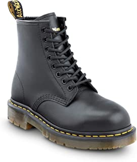 1460 Original Slip Resistant Unisex 8-Eye Lace Up Boot with Steel Toe
