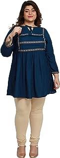 PrimeSons Plus Size Print Kurti for Women Formal Kurta Kurtis Tunic Print Top Dress
